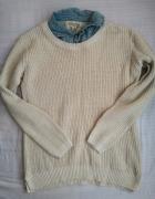 Sweterek z kołnierzykiem elegancki new look