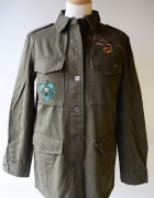 Kurtka Khaki Naszywki Zara Basic S 36 Militarna Koszula...