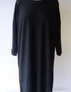 Sukienka Czarna XL 42 XLNT KappAhl Oversize Dzianinowa Luzna...