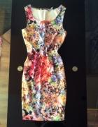 Sukienka w kwiaty S M lato kolorowa HIT...