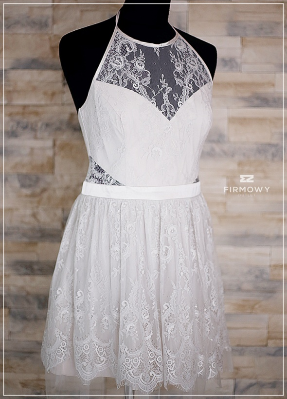 Sukienka biała krótka Adriana Lipsy koronkowa nowa 42...