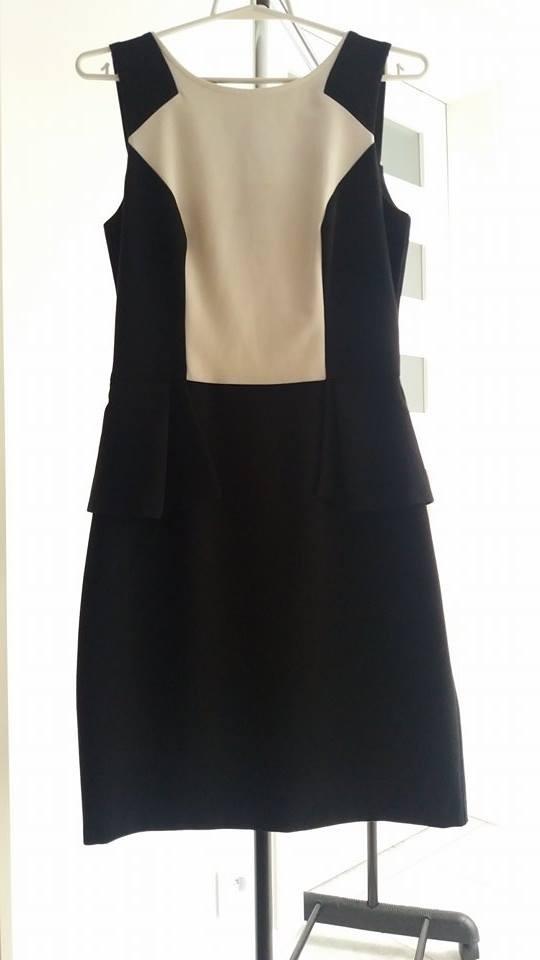 Elegancka sukienka z baskinką Orsay