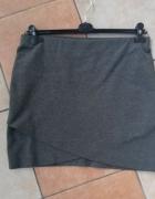spodnica biodrówka dresowa przekładana szara HM...