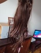 Włosy naturalne czekoladowy braz