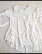 Biała bluzka HISZPANKA rozmiar 40 L opuszczone rękawy...
