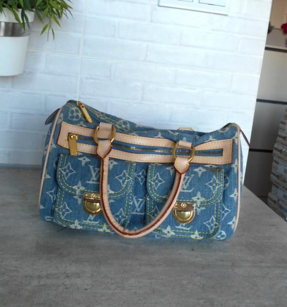 Torebki na co dzień Louis Vuitton Denim Speedy Canvas bag torebka torba