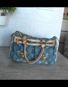 Louis Vuitton Denim Speedy Canvas bag torebka torba...
