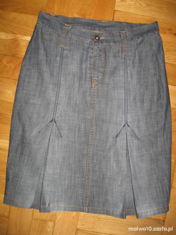 Spódnice szara jeansówka S