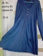 sukienka materiałowa