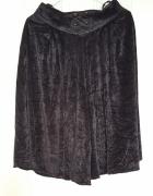 Czarne spódnico spodnie 40 L welur welurowe aksamit retro vinta...