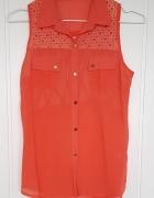 Koszula koszulka pomarańczowa M 38 L 40 lekka zwiewna tunika bl...