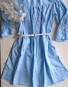 Nowa niebieska sukienka hiszpanka Reserved bawełna S M...