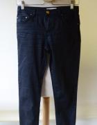 Spodnie Granatowe Woskowane S 36 Stockh Lm Zip...