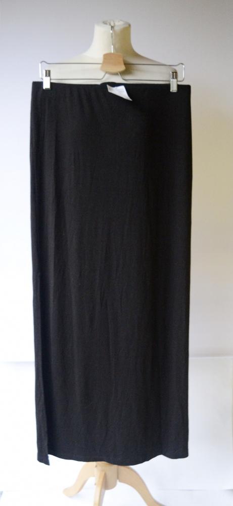 Spódnice Spódniczka Czarna Nowa H&M M 38 Long Maxi Rozporki Długa