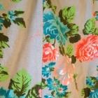 Spódnica kwiaty smoove S M 34 36 38 XS szara pastelowe róże obcisła niebieskie czerwone