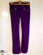 Spodnie fioletowe jeansy dziecięce 140cm nowe...