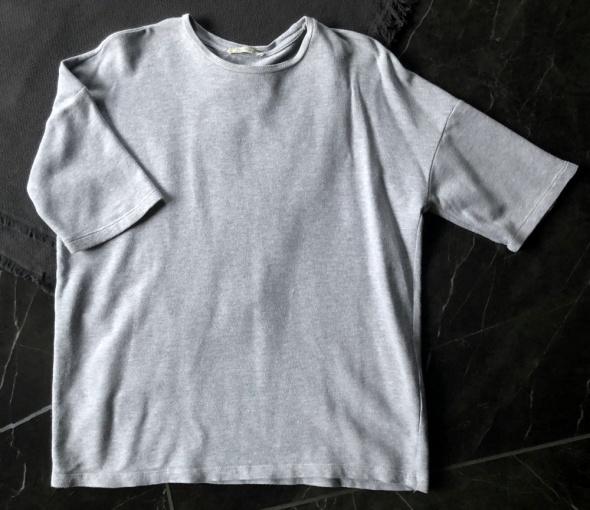 ZARA bluzka bluza szara ciepła oversize rękaw 3 4 rozm S 36 stan BDB