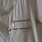 Bluzka Moodo biała zamki nakrapiana M 38 36 S 40