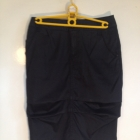 Czarna spódnica zakładki z kieszeniami M S 36 38 unikatowa oryginalna
