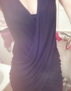 Sukienka kopertówka czarna M