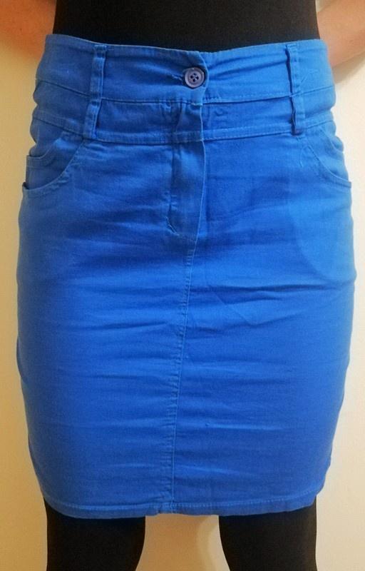 Spódnica ołówkowa niebieska rozmiar S
