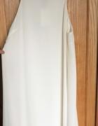 Biała nowa sukienka H&M 38 M zdobiona lejąca lekka na ramiączka...