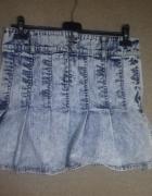 Jeansowa marmurkowa spódnica mini 38...