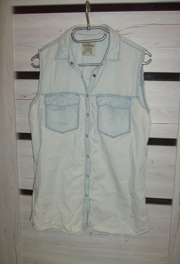 długa bluzka jeansowa M...