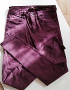 Spodnie rurki jeansy bordowe rozmiar S 36...