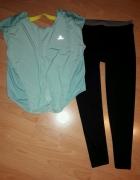 C&A sportowe legginsy i koszulka Dechatlon rozmiar 38 40