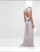 Długa suknia asymetryczna XL...