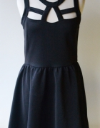Sukienka Sexy Czarna Cubus Sznurki M 38...