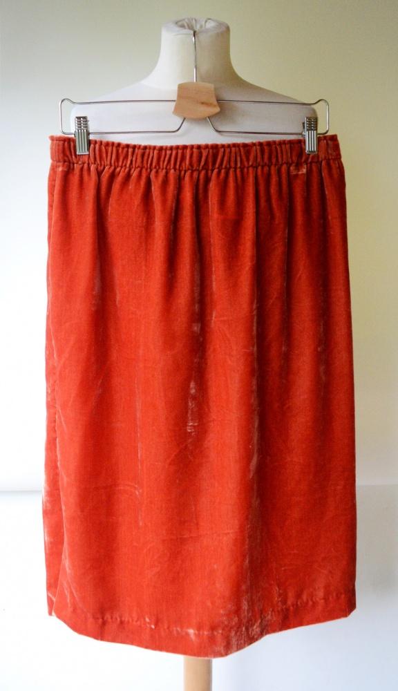 Spódnice Spódniczka Pomarańczowa Welurowa Welur H&M XL 42