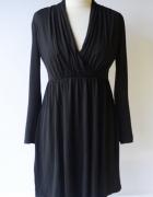 Sukienka Czarna H&M S Kopertowa Do Karmienia...
