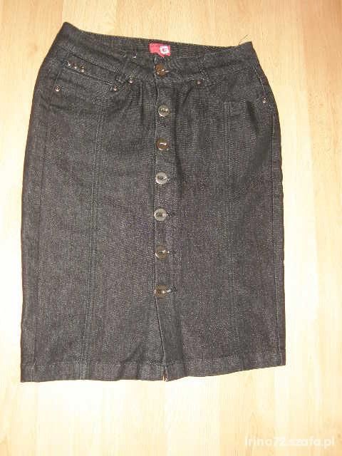 Spódnice Spódnica jeansowa czarna ołówkowa S
