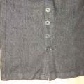 Spódnica jeansowa czarna ołówkowa S