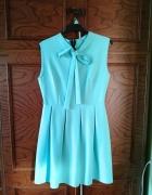 Jasno niebieska sukienka studniówka wesele...