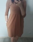 Karmelowa sukienka rozmiar uniwersalny