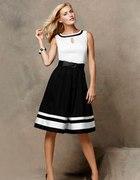 Zjawiskowa czarno biala sukienka