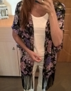 Narzutka bluzka z frędzlami New Look...