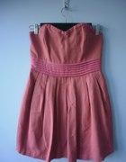 Bik bok gorsetowa koralowa sukienka S M...