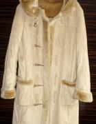 Płaszcz z kożuchem Carmel kożuszek rozmiar S M...
