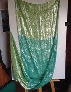 Zielony szal połyskujący z Indii...