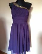 fioletowa sukienka...