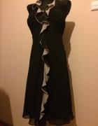 czarno kawowa sukienka