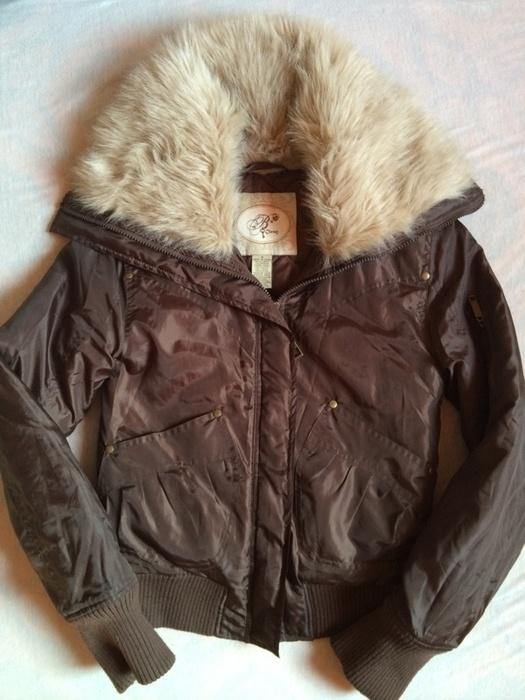 Odzież wierzchnia Kurtka brązowa zimowa