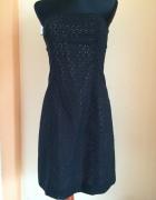 Czarno różowa sukienka thoshanna