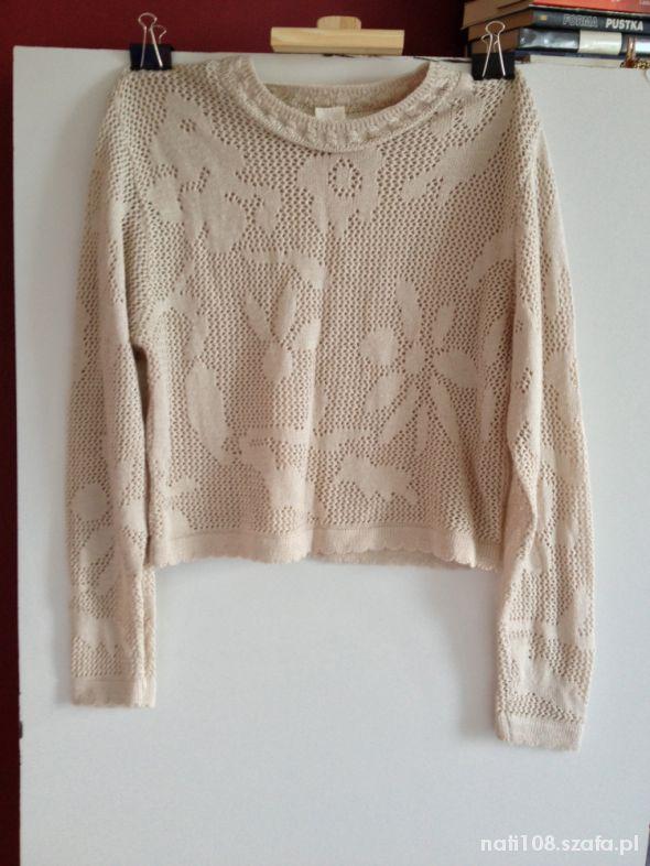 Ażurkowy sweterek do pasa rozmiar L