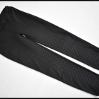 Czarne tregginsy spodnie na gumce pikowane 38 M