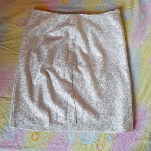 Spódnice Dopasowana srebrna spódniczka